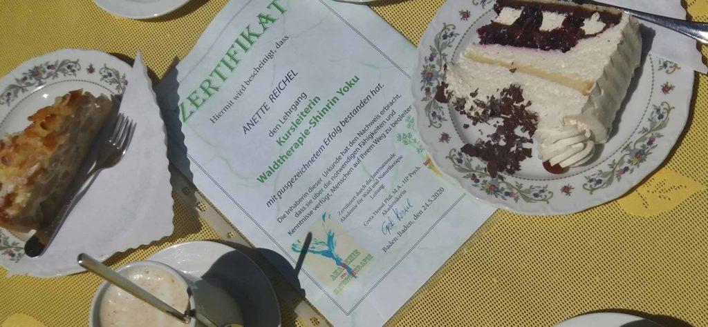 Waldbaden Ausbildung Zertifikat - wohl verdient!