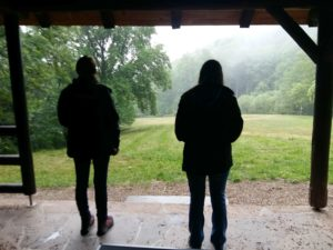 Waldbaden Ausbildung bei Regen
